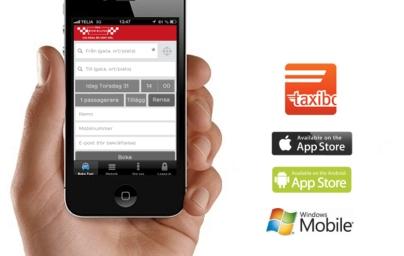 Nyhet! Boka taxi genom mobilapp
